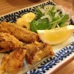 14413327 - 旨い料理はついつい撮り忘れます。                       白身魚の竜田揚げ。