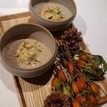 Delfina - 白子とポルチーニ茸のスープ♡
