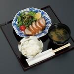 和食 花の茶屋 - カツマグロ膳ハーフ(中学生以下限定)