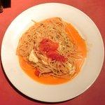 14414585 - パスタランチセット 980円 のフレッシュトマトとモァツァレラチーズのスパゲッティー