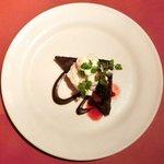 14414688 - パスタランチセット 980円 のチョコレートケーキ