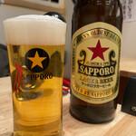 日本栄光酒場 ロッキーカナイ - サッポロラガー大瓶699円