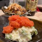 日本栄光酒場 ロッキーカナイ - どシンプルなポテトサラダ 399円 トッピング 明太子 99円