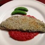 ニコラス - 今日はメバルの香草焼き。下にはトマトソース。
