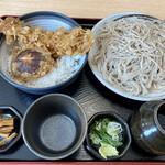 純手打蕎麦処 真人 - 料理写真:えび天丼セット