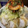 Ramenjirou - 料理写真:小ぶた(880円)+ネギ(100円)+味つき玉子(80円)+ニラキムチ(80円)、ニンニクコール