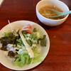 taishuuchuuyuukashokudouhakkai - 料理写真:セットのサラダとスープ