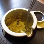 よも麺てんき - すりおろし生姜、これをタップリ入れるのがポイント♪