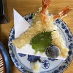 安江  - 蕎麦切り定食のセットの天婦羅です