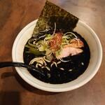 らぁめん 欽山製麺所 - 黒鶏ラーメン@780