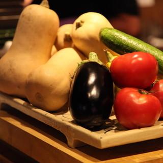 【地元野菜使用】新鮮だからこそシンプルな味付けでどうぞ!