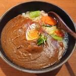 たま樹 - たま樹特製平麺(890円)+一番辛口(60円)