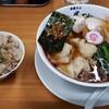 中華そば 半ざわ - 料理写真:ワンタンそば950円+ランチ豚めし150円