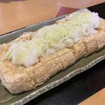 手打ちそば 百丈 - 料理写真:油揚げステーキ ¥550