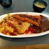 キッチンユキ - 料理写真:野菜玉子スパ&カレー トンカツ乗せ
