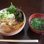 スイドウカフェ - 【2012/8】煮穴子丼(1200円)♥
