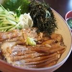スイドウカフェ - 【2012/8】煮穴子丼、あっぷ♥