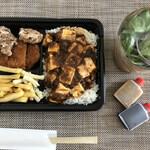 いちげん - 麻婆ごはん&ヒレから弁当+単品サラダ