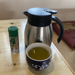かわ善 - 追加のお茶と山椒