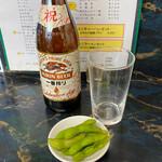 中華料理 華山 - ビール+お通し