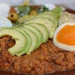 Mr.FARMER - ゆで卵→豆腐の上に野菜のピューレ