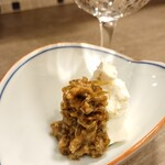 SAKEのちサカナ時々、そば しゅぼ - ④南蛮漬クリームチーズ☆日本酒のみならず各種アルコールのアテに最適。
