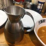 大勝軒 - 割りスープ