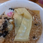 中華そば ムタヒロ  - 幅広麺付き。