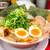 ラーメン魁力屋 - 料理写真:特製醤油全部のせラーメン焼きめし餃子定食+小300円(税別)
