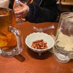スパ串酒場 うまいける - ウーロンハイとプレーンチューハイとお通しのピーナッツ