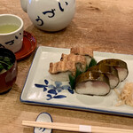 144248076 - 鯖・穴子寿司盛り合わせ+お吸い物