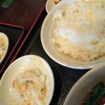 中国上海料理 豫園 - セット小鉢 ごはん