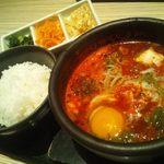 東京純豆腐 - スンドゥブ+ご飯・ナムルセット
