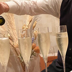 割烹 鼎 - birthdayにシャンパンをいただいちゃった! 感謝です