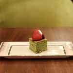 ラウンジ シーウインド - ケーク抹茶@かのこ豆入りの抹茶パウンドケーキ