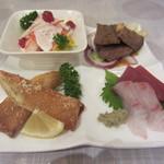 やきとり鳥八 - 料理写真:前菜4種盛り