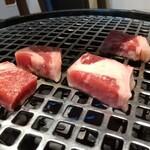 焼肉 天神 - ステーキセット