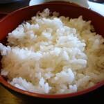 和風料理おかめ - あとご飯もお味噌汁もおいしいです^^
