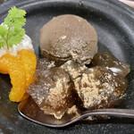 串八 - ほうじ茶アイスと京わらび餅