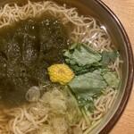 横川橋 康次郎 - とろろ昆布の蕎麦