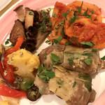 144279188 - 【'21.1】季節野菜の前菜の盛り合わせ