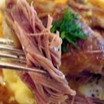 マルミトン - 鴨腿肉のコンフィー・マスタードソース