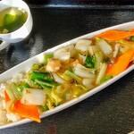 一楽亭 - 中華丼 塩味