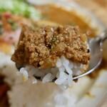 アオヤギ食堂 - あいがけカレー(1100円)