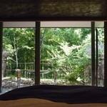 14430088 - 柿の木があるお部屋。柿の青い実とか、狂い咲き風紅葉とか。