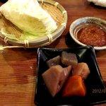 炭火焼鳥ていじ - お通し!(2012,08/12)