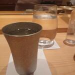 鮨 さかい - 錫グラス