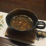 舎人庵・とんぼ - スープ