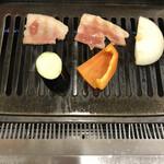 板門店 - バラ肉焼きます❣️( ´∀`)