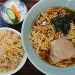 Chuukasobatamiya - ラーメン+半チャーハン(750円)